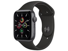 Apple Watch SE GPSモデル 44mm MYDT2J/A [ブラックスポーツバンド]