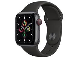 Apple Watch SE GPS+Cellularモデル 40mm MYEK2J/A [ブラックスポーツバンド]