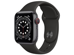 Apple Watch Series 6 GPS+Cellularモデル 40mm M06P3J/A [ブラックスポーツバンド]
