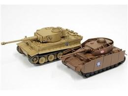 ガールズ&パンツァー 1/56 おてごろ模型戦車道 IV号戦車H型 D型改あんこうチーム VS ティーガーI 黒森峰女学園 対決セット あとには退けない戦いです!