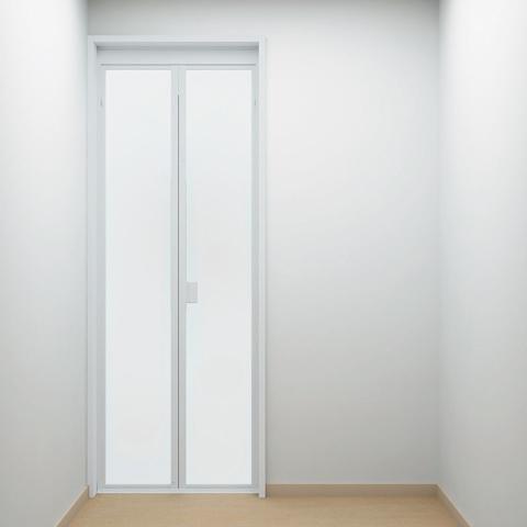 スッキリドアW800折戸[ホワイト]