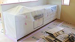 大型システムキッチン交換・内装補修