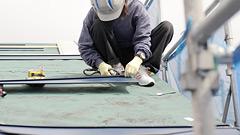 屋根の重ねぶき(ガルバリウム鋼板使用)