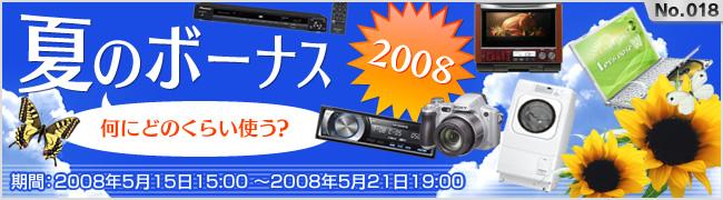 夏のボーナス2008-何にどのくらい使う?-