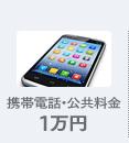 携帯電話・公共料金 1万円